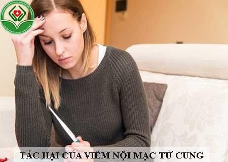 tác hại của viêm nội mạc tử cung