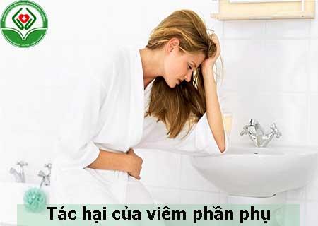 tác hại của viêm phần phụ