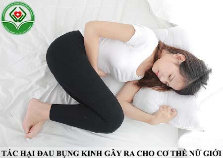 tác hại đau bụng kinh gây ra cho nữ giới