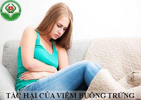 tác hại khi bị viêm buồng trứng