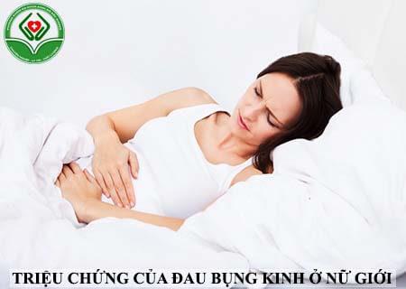 triệu chứng đau bụng kinh ở nữ giới